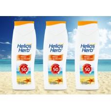 Mléko HELIOS Herb na opalování s ochranným faktorem OF 50